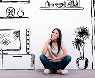 Woman staging her home without hiring a pro