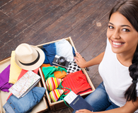 Woman never regretting bringing items on a trip