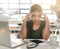 Woman realizing her work-life balance is off