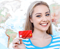 Woman picking the best airline credit card for rewards