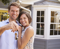 Couple learning if they need 20 percent down on a house