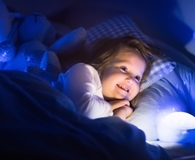 Little girl using best night light