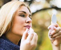 Woman using makeup item that she should ditch today