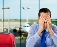 Man disappointed for delayed flight