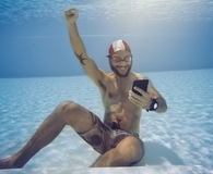 Man using best waterproof phone cases
