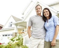 Couple learning if an FHA home loan is right for them