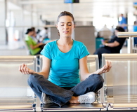 Meditation at airport