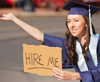 Woman making career mistakes new grads make