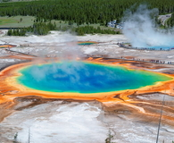 Panorama of Grand Prismatic Spring