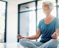 Practicing mindfulness through yoga and meditation