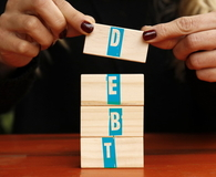 The word of Debt, Finance concept