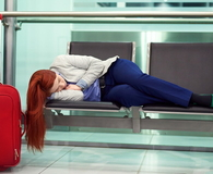 Tired in the airport