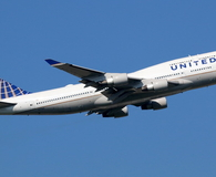 United Airlines Boeing 747 airplane