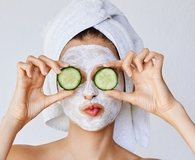 woman using products for oily skin