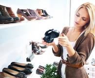 Woman being a patient shopper