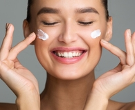 woman using best products for dry skin