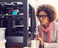 Woman using best 3d printer