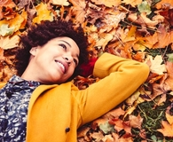 Woman finding ways to embrace all things autumn