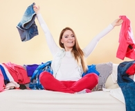Woman mastering the art of decluttering in time for spring