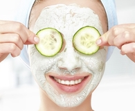 Woman wearing the best facial masks