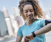 Woman finding fitness gadgets worth the money