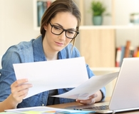 Woman using personal loan