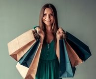 Woman learning mindful spending habits
