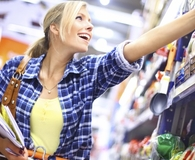 Woman learning grocery store pricing secrets