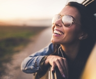 Woman finding easy ways to live a happier life