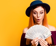 Woman becoming a money master
