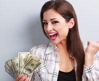 Woman dropping rules of money etiquette