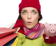 Woman avoiding common holiday budget pitfalls