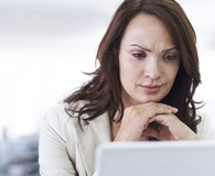 Woman learning what a fragmented credit report is