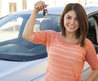 Woman speeding past car debt with simple timing trick