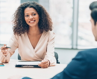 Woman on business meeting