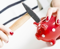 Woman using Roth IRA as emergency fund