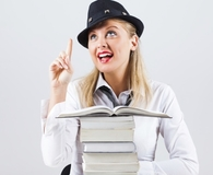 Woman reading best books for entrepreneurs