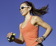 Woman wearing best running sunglasses