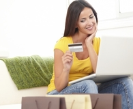 Woman asking questions before accepting credit card offer