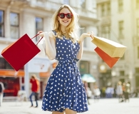 Woman becoming smartest shopper ever