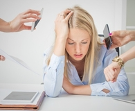 Woman learning why multitasking and money don't mix