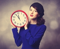 Woman improving time management skills