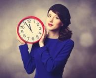 Woman improving time management skills
