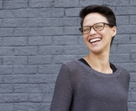 Woman learning secret ways to save on eyewear