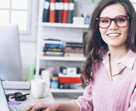 Woman finding easy ways to be more productive