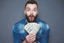 Man quitting bad money habits