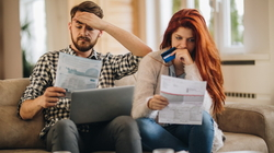 Couple worried about paying bills
