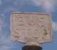 A sign that says bus stop