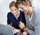 Couple finding deals online with a credit card