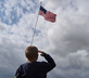 Child Saluting American Flag
